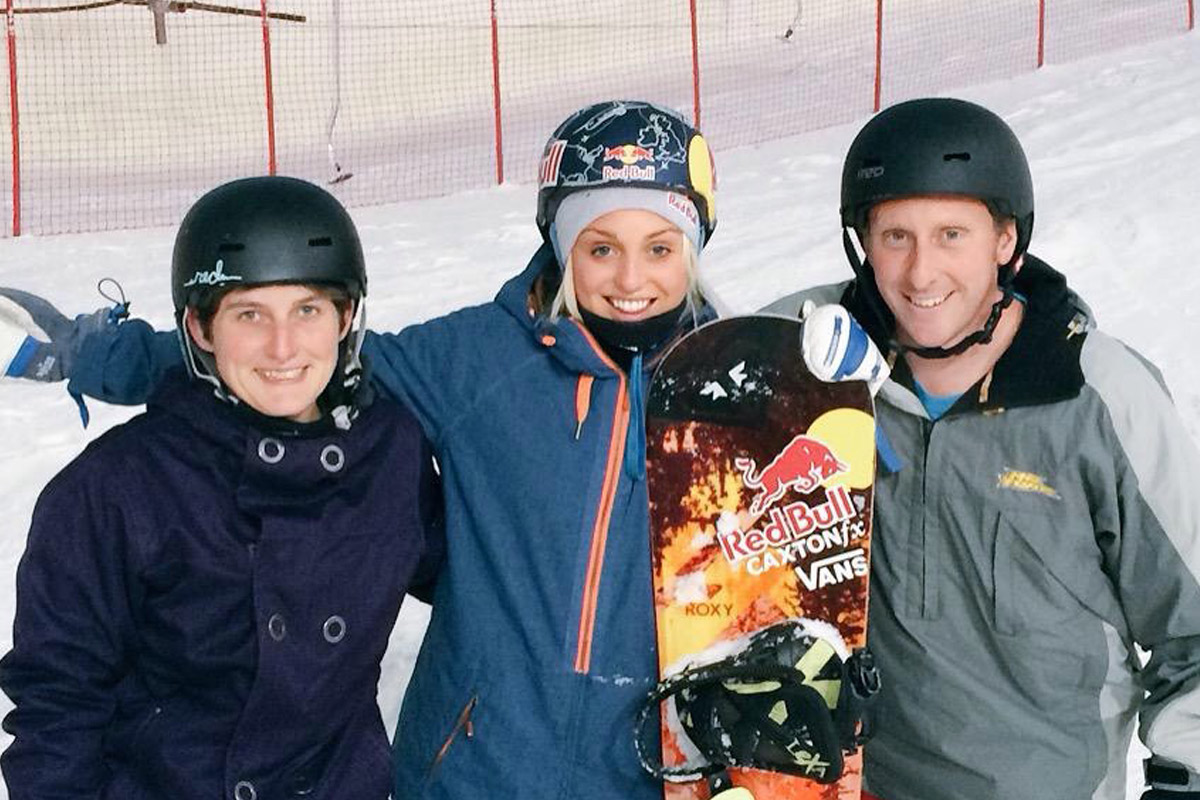 Snowboarding with Aimee Fuller
