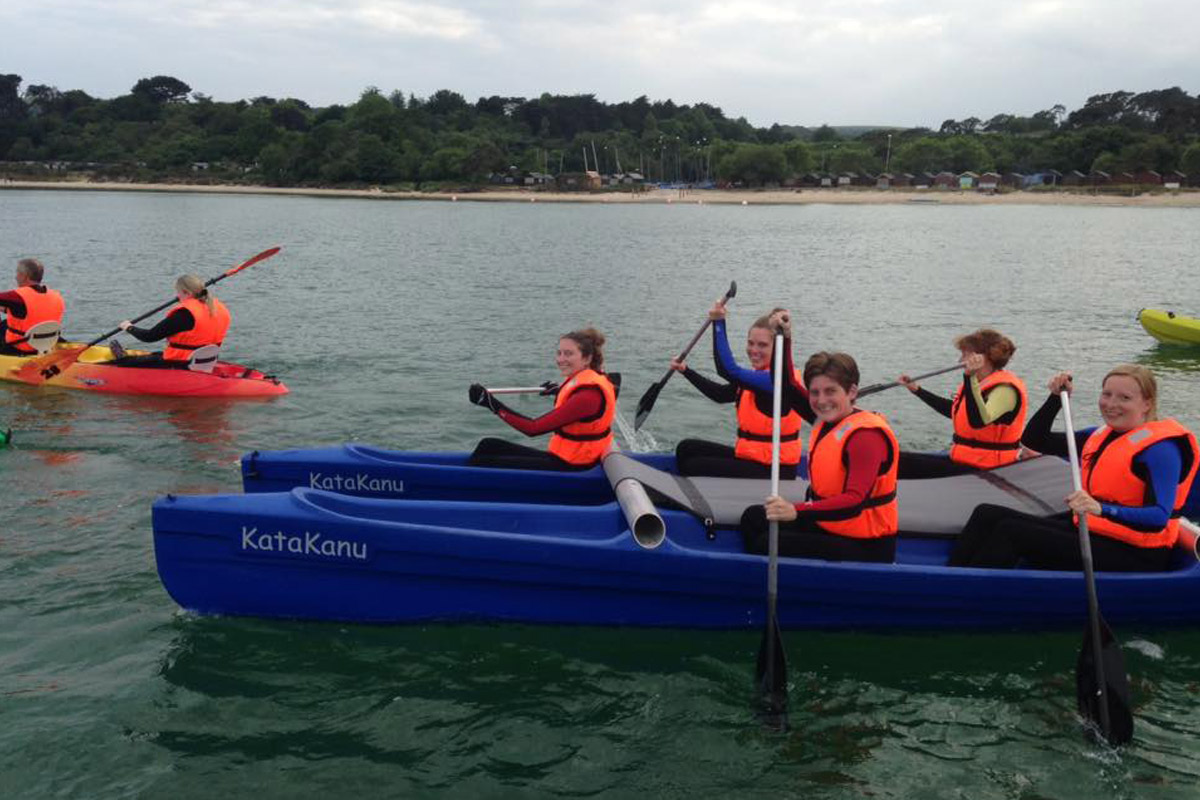 Kayaking in Studland Bay