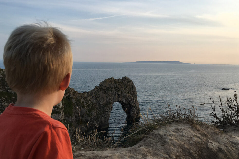 Looking out over the Dorset coast