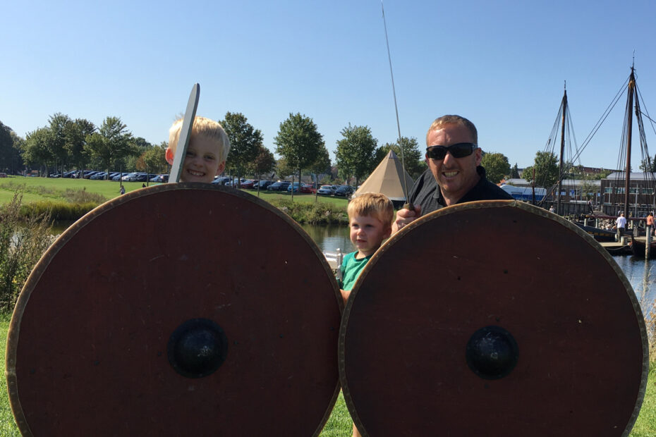 Pretending to be vikings