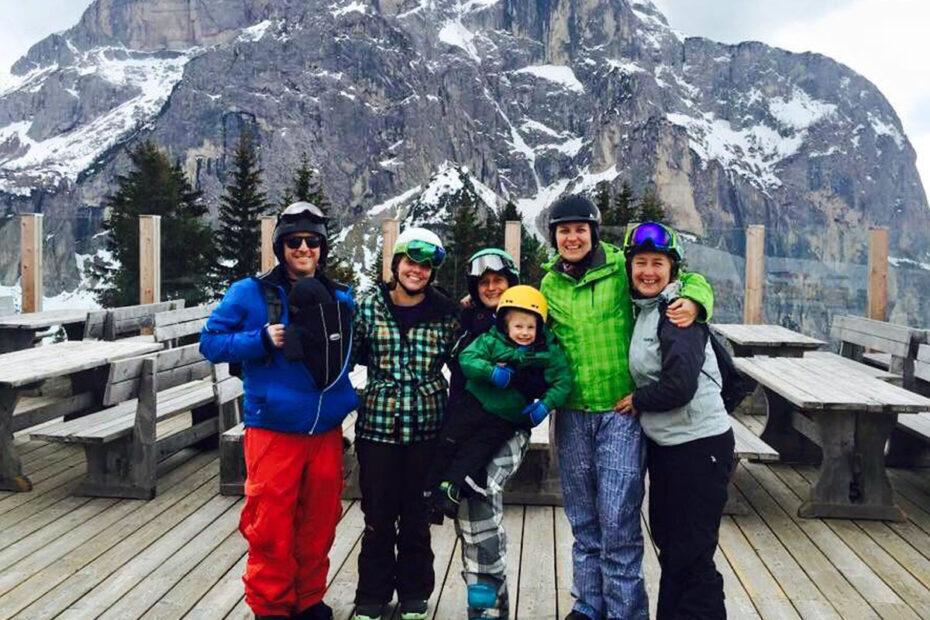 Skiing in Civetta